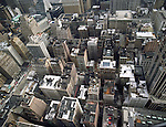 Aerial view of New York City Street/ Intersection