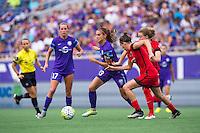 Orlando, FL - Sunday June 26, 2016: Alex Morgan  during a regular season National Women's Soccer League (NWSL) match between the Orlando Pride and the Portland Thorns FC at Camping World Stadium.
