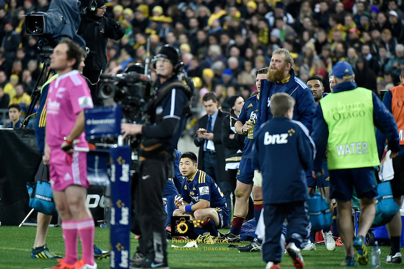 Fumiaki Tanaka, Super Rugby Final - Hurricanes v Highlanders at Westpac Stadium, Wellington, New Zealand on Saturday 4 July 2015.<br /> Photo by Masanori Udagawa. <br /> www.photowellington.photoshelter.com.