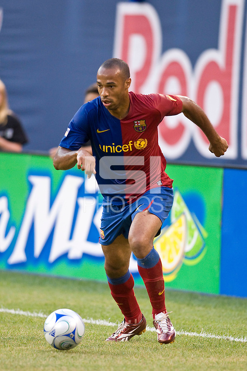 FC Barcelona forward Thierry Henry (14). FC Barcelona defeated the New York Red Bulls 6-2 during an international friendly at Giants Stadium in East Rutherford, NJ, on August 6, 2008.