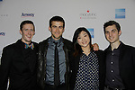 Skaters - Jeremy Abbott, Ryan Bradley, Mirai Nagasu, Josh Farris at Skating with the Stars - a benefit gala for Figure Skating in Harlem in its 17th year is celebrated with many US, World and Olympic Skaters honoring Michelle Kwan and Jeff Tweedy on April 7, 2014 at Trump Rink, Central Park, New York City, New York. (Photo by Sue Coflin/Max Photos)