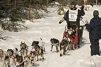 March 3, 2007.  Anchorage, Alaska. Allen Moore   On the ceremonial start day of the Iditarod Trail Sled Dog Race