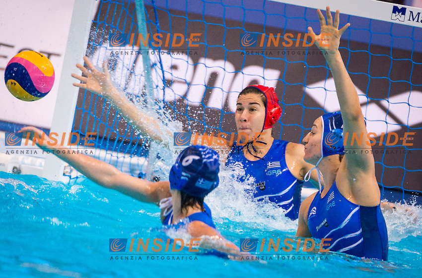 LEN European Water Polo Championships 2016<br /> Portugal POR (White) Vs Greece GRE (Blue)<br /> Women<br /> 1 KOUVDOU Eleni GK GRE<br /> Kombank Arena, Belgrade, Serbia <br /> Day01  10-01-2016<br /> Photo P. Mesiano Insidefoto/Deepbluemedia