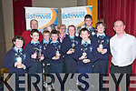 Listowel Credit Union Quiz: Pupils Of Knockanure NS who won the U/11 & U/13 categories in the finals of the Listowel Credit Union inter- school quiz in Listwel Convent Hall on Friday night. Front: Marie Kennelly, Christopher Keane, Cian Rogan, Jerry Keane, Darren Doody, & Denis Dillane, Manager Listowek Credit Union...Back: Leo Daly, Listowel Credit Union, Tadgh McEvoy, Julienne Donegan, Teacher, Maeve McEvoy & Killian Doody.