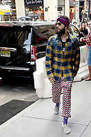 www.acepixs.com<br /> September 10, 2017 New York City<br /> <br /> Jared Leto was seen at Balthazar in New York City on September 10, 2017.<br /> <br /> Credit: Kristin Callahan/ACE Pictures<br /> <br /> Tel: 646 769 0430<br /> Email: info@acepixs.com