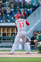 Jake Armstrong (23) of the North Carolina State Wolfpack at bat against the Charlotte 49ers at BB&T Ballpark on March 31, 2015 in Charlotte, North Carolina.  The Wolfpack defeated the 49ers 10-6.  (Brian Westerholt/Four Seam Images)