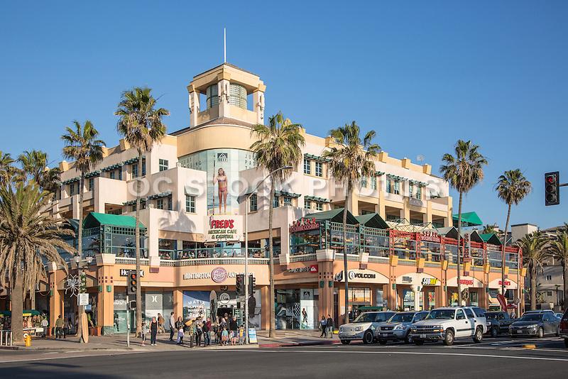 Downtown Huntington Beach at PCH and Main Street