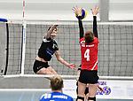 2018-03-10 / Volleybal / Seizoen 2017-2018 / Vrouwen Liga B Noorderkempen - Blaasveld / Kim Van Dun (Noorderkempen) tegenover Van den Broeck (4)<br /> <br /> ,Foto: Mpics.be