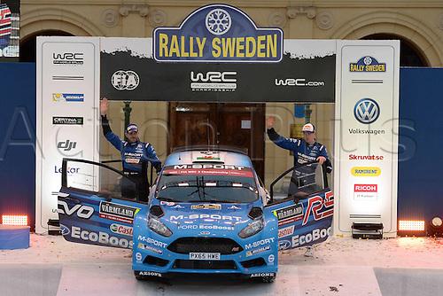 14.02.2016. Värmullsåsen, Sweden. WRC Rally of Sweden, final stage SS21.  EVANS