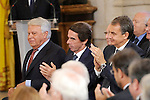 Formers Spanish Prime Ministers Felipe Gonzalez, Jose Maria Aznar and Jose Luis Rodriguez Zapatero attend the 30th Anniversary of Spain being part of European Communities. June 24, 2015.(ALTERPHOTOS/Pool)