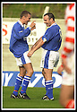 5/10/02       Copyright Pic : James Stewart                     .File Name : stewart-hamilton v stranraer 20.IAN HARTY (RIGHT) IS CONGRATULATED BY KEVIN FINLAYSON AFTER HE SCORED THE FIFTH....James Stewart Photo Agency, 19 Carronlea Drive, Falkirk. FK2 8DN      Vat Reg No. 607 6932 25.Office : +44 (0)1324 570906     .Mobile : + 44 (0)7721 416997.Fax     :  +44 (0)1324 570906.E-mail : jim@jspa.co.uk.If you require further information then contact Jim Stewart on any of the numbers above.........
