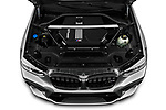 Car Stock 2020 BMW X3 M-Competition 5 Door SUV Engine  high angle detail view
