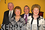 Taking time out for a photo at The Clounmacon Social in The Listowel Arms Hotel on Saturday night were Pat and Breda Hayes with Liam and May Nolan...