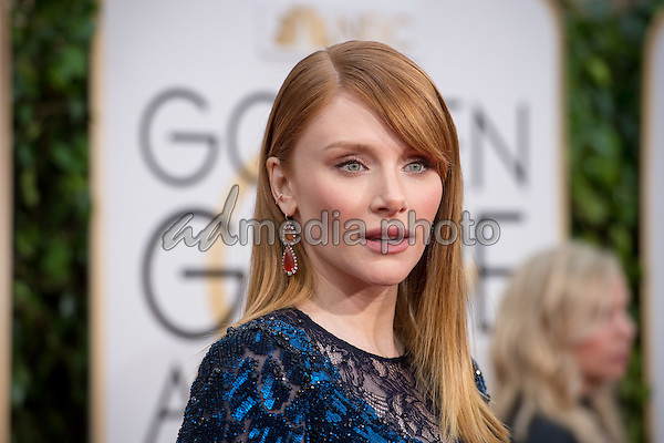 Bryce Dallas Howard, presenter, arrives at the 73rd Annual Golden Globe Awards at the Beverly Hilton in Beverly Hills, CA on Sunday, January 10, 2016. Photo Credit: HFPA/AdMedia
