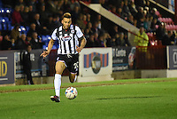 Nathan Arnold of Grimsby Town brings the ball forward during the Vanarama National League match between Aldershot Town and Grimsby Town at the EBB Stadium, Aldershot, England on 5 April 2016. Photo by Paul Paxford / PRiME Media Images.