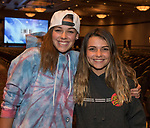 "Paloma and Lauren at the screening of Warren Miller's film ""Line of Descent"" at the Reno Ballroom on Saturday, Nov. 4, 2017 in downtown Reno."
