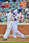 11 April 2012: New York Mets infielder Daniel Murphy in action against the Washington Nationals at Citi Field in Flushing, New York. The Nationals shut out the Mets 4-0 to take the rubber match of their 3-game series. Mandatory Credit: Ed Wolfstein Photo