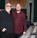 Paul Gemignani & Rupert Holmes recording the 2012 Original Broadway Cast Recording of 'The Mystery of Edwin Drood' at the KAS Music & Sound Studios in Astoria, New York on December 10, 2012