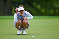 Michelle Wie (USA) lines up her putt on 2 during the round 2 of the KPMG Women's PGA Championship, Hazeltine National, Chaska, Minnesota, USA. 6/21/2019.<br /> Picture: Golffile | Ken Murray<br /> <br /> <br /> All photo usage must carry mandatory copyright credit (© Golffile | Ken Murray)
