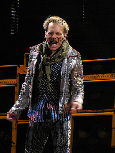 "VAN HALEN - vocalist David Lee Roth performing live at a very special ""Friends And Family"" Dress Rehearsal for their 2012 ""A Different Kind Of Truth"" Tour at The Forum in Inglewood, CA USA - February 8, 2012.  Photo © Kevin Estrada / Iconicpix"
