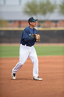 Seattle Mariners third baseman Miguel Gamboa (64) during a Minor League Spring Training game against the San Diego Padres at Peoria Sports Complex on March 24, 2018 in Peoria, Arizona. (Zachary Lucy/Four Seam Images)