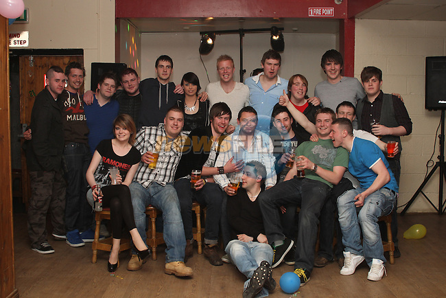 AJ McCullough's 21st in The Rugby Club...(Photo credit should read Jenny Matthews www.newsfile.ie)....This Picture has been sent you under the conditions enclosed by:.Newsfile Ltd..The Studio,.Millmount Abbey,.Drogheda,.Co Meath..Ireland..Tel: +353(0)41-9871240.Fax: +353(0)41-9871260.GSM: +353(0)86-2500958.email: pictures@newsfile.ie.www.newsfile.ie.