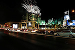 LAS VEGAS, NV - AUGUST 22: Fireworks  during the grand opening celebration for SLS Las Vegas on August 22, 2014 in Las Vegas, Nevada