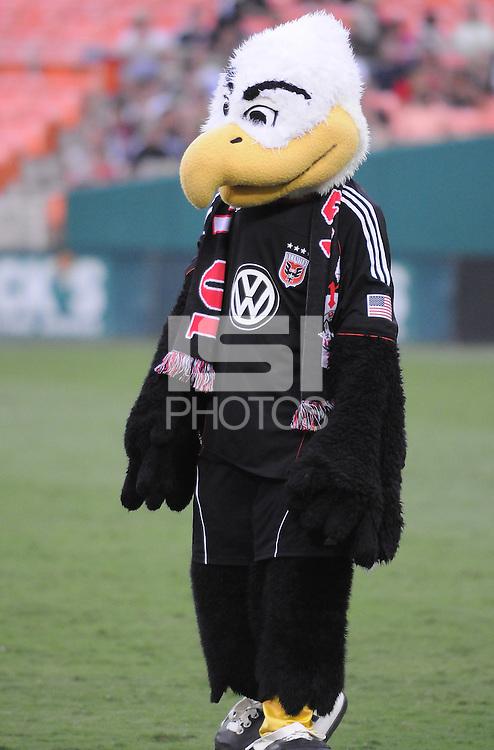 D.C. United mascot Talon. File photo RFK stadium 2011 season.