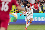 Bandar Mohamed Al Ahbabi of United Arab Emirates in action during the AFC Asian Cup UAE 2019 Semi Finals match between Qatar (QAT) and United Arab Emirates (UAE) at Mohammed Bin Zaied Stadium  on 29 January 2019 in Abu Dhabi, United Arab Emirates. Photo by Marcio Rodrigo Machado / Power Sport Images