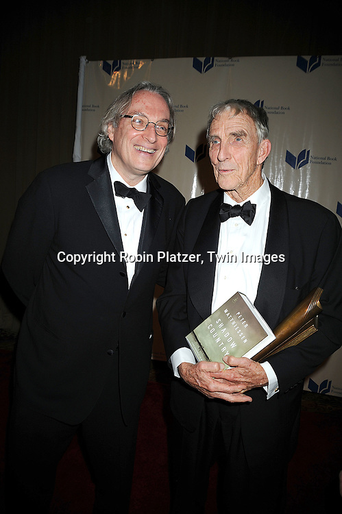 Morgan Entrekin and Peter Matthiessen..at The 2008 National Book Awards Dinner and Ceremony on November 19, 2008 at Cipriani's Wall Street in New York City. ....Robin Platzer, Twin Images