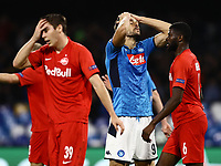 5th November 2019; Stadio San Paolo, Naples, Campania, Italy; UEFA Champions League Group Stage Football, Napoli versus Red Bull Salzburg; Fernando Llorente  of Napoli as his header goes close to scoring - Editorial Use