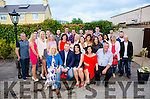 Cora Palmer from Blackwater and John Brosnan from Scartaglin celebrate the announcement of their engagement in the company of their parents and friends at Kenmore's Brook Lane Hotel last Saturday
