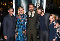 Dean Devlin, Abbie Cornish, Gerard Butler, Jim Sturgess, Talitha Bateman at the premiere for &quot;Geostorm&quot; at TCL Chinese Theatre, Hollywood. Los Angeles, USA 16 October  2017<br /> Picture: Paul Smith/Featureflash/SilverHub 0208 004 5359 sales@silverhubmedia.com
