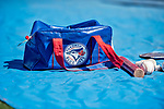 6 March 2019: A Toronto Blue Jays Gear Bag lies ready prior to a Spring Training game against the Philadelphia Phillies at Dunedin Stadium in Dunedin, Florida. The Blue Jays defeated the Phillies 9-7 in Grapefruit League play. Mandatory Credit: Ed Wolfstein Photo *** RAW (NEF) Image File Available ***
