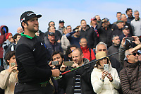 Jon Rahm (ESP) on the 2nd tee during Round 1 of the Open de Espana 2018 at Centro Nacional de Golf on Thursday 12th April 2018.<br /> Picture:  Thos Caffrey / www.golffile.ie<br /> <br /> All photo usage must carry mandatory copyright credit (&copy; Golffile | Thos Caffrey)