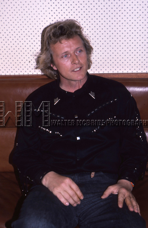 Rutger Hauer on March 27, 1987 in New York City.