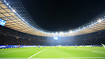 03.11.2018, OLympiastadion, Berlin, GER, DFL, 1.FBL, Hertha BSC VS. RB Leipzig, <br /> DFL  regulations prohibit any use of photographs as image sequences and/or quasi-video<br /> <br /> im Bild Hertha-Fankurve, Stadion dunkel<br /> <br />       <br /> Foto © nordphoto / Engler