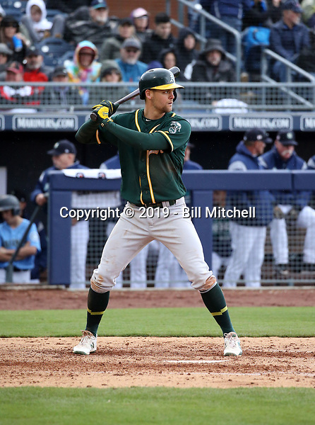Chad Pinder - Oakland Athletics 2019 spring training (Bill Mitchell)
