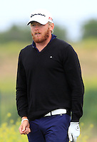 Sebastian Soderberg (SWE) on the 1st tee during Round 1 of the Challenge de Madrid, a Challenge  Tour event in El Encin Golf Club, Madrid on Wednesday 22nd April 2015.<br /> Picture:  Thos Caffrey / www.golffile.ie