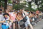 Empire The Series, the Internet's Hottest Soap Opera Returns This Summer 2012 for its 4th season - Sex.Scandal.Soap. Marc Simoway hands out flyer of Empire The Series march in the NYC Gay Pride Parade 2012 on June 24, 2012 marches from Fifth Avenue and 38 to the Village, New York City, New York. Ceck them out at Empiretheseries.com (Photo by Sue Coflin/Max Photos)