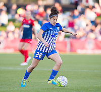 Boyds, MD - April 16, 2016: Boston Breakers midfielder Angela Salem (26). The Washington Spirit defeated the Boston Breakers 1-0 during their National Women's Soccer League (NWSL) match at the Maryland SoccerPlex.