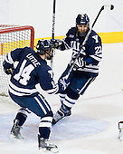 Broc Little (Yale - 14), Brendan Mason (Yale - 22) - The Boston College Eagles defeated the Yale University Bulldogs 9-7 in the Northeast Regional final on Sunday, March 28, 2010, at the DCU Center in Worcester, Massachusetts.