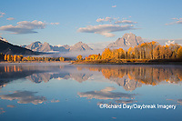 67545-09314 Sunrise at Oxbow Bend in fall; Grand Teton National Park; WY