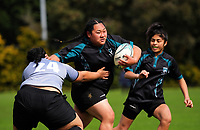 Action from the 2017 1st XV rugby Top Four girls' semfinal between St Mary's College and Southern Cross College at Sports and Rugby Institute in Palmerston North, New Zealand on Friday, 8 September 2017. Photo: Dave Lintott / lintottphoto.co.nz