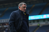 Blackburn Rovers manager Tony Mowbray in the final minutes of todays match<br /> <br /> Photographer Rachel Holborn/CameraSport<br /> <br /> The EFL Sky Bet League One - Blackburn Rovers v Southend United - Saturday 7th April 2018 - Ewood Park - Blackburn<br /> <br /> World Copyright &copy; 2018 CameraSport. All rights reserved. 43 Linden Ave. Countesthorpe. Leicester. England. LE8 5PG - Tel: +44 (0) 116 277 4147 - admin@camerasport.com - www.camerasport.com