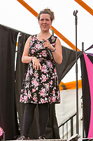 Comedian Rosie Jones performs on day 2 of the 2019 Latitude Festival at Henham Park, Suffolk. 20th July 2019<br /> <br /> Photo by Stuart Hogben