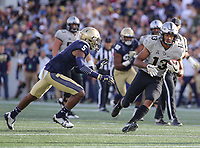 Annapolis, MD - October 21, 2017: UCF Knights wide receiver Gabriel Davis (13) runs after making a catch during the game between UCF and Navy at  Navy-Marine Corps Memorial Stadium in Annapolis, MD.   (Photo by Elliott Brown/Media Images International)