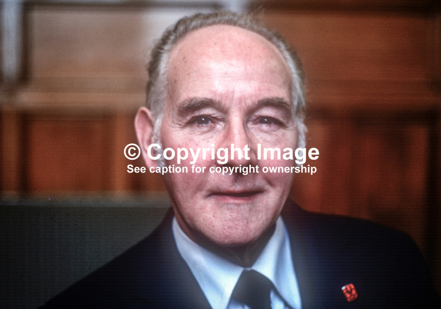 Bob Allen, aka Robert Allen, regional secretary, N Ireland, Union of Construction &amp; Allied Trades &amp; Technicians Union, UK, March, 1978, 1978030138<br /><br />Copyright Image from Victor Patterson, 54 Dorchester Park, <br />Belfast, UK, BT9 6RJ<br /><br />t1: +44 28 9066 1296 (from Rep of Ireland 048 9066 1296)<br />t2: +44 28 9002 2446 (from Rep of Ireland 048 9002 2446)<br />m: +44 7802 353836<br /><br />victorpatterson@me.com<br />www.victorpatterson.com<br /><br />Please see my Terms and Conditions of Use at VICTORPATTERSON.COM. It is IMPORTANT that you familiarise yourself with them.<br /><br />Images used on the Internet must be visibly watermarked i.e. &copy;VICTORPATTERSON.COM within the body of the image and copyright metadata must not be deleted. Images used on the Internet have a size restriction of 4kbs and are chargeable at the then current NUJ rates.<br /><br />This image is only available for the use of the download recipient i.e. television station, newspaper, magazine, book publisher, etc, and must not be passed on to any third party. It is also downloaded on condition that each and every usage is notified within 7 days to victorpatterson@me.com<br /><br />The right of Victor Patterson to be identified as the author is asserted in accordance with The Copyright Designs And Patents Act (1988).