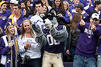 Oct 15, 2011:  Washington fans celebrate in the stands after the Huskies scored against Colorado.  Washington defeated Colorado 52-24 at Husky Stadium in Seattle, Washington...