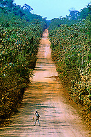 Rodovia Tranamazônica em Marabá, Pará. 1983. Foto de Nair Benedicto.